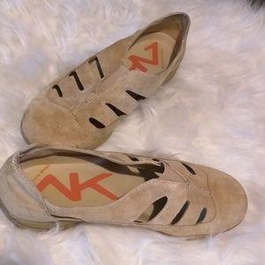 AK Ann Klein sport slip on suede shoes 7.5